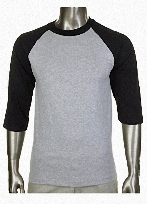 Pro Club Baseball Gray/Black T-Shirt