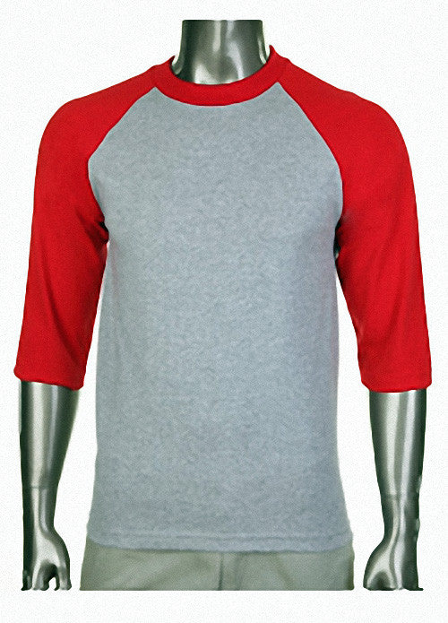 Pro Club Baseball Gray/Red T-Shirt