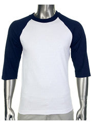 Pro Club Baseball White/Dark Navy T-Shirt