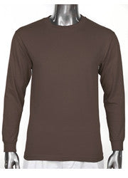 Pro Club HEAVYWEIGHT LONG SLEEVE T Shirt Brown