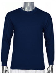 Pro Club HEAVYWEIGHT LONG SLEEVE T Shirt Navy Blue