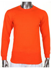 Pro Club HEAVYWEIGHT LONG SLEEVE T Shirt Orange