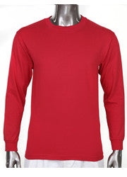 Pro Club HEAVYWEIGHT LONG SLEEVE T Shirt Red