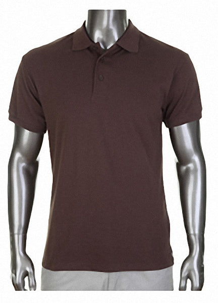 Pro Club Pique Polo Collar Brown Shirt