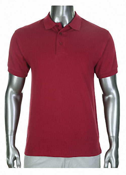Pro Club Pique Polo Collar Burgundy Shirt