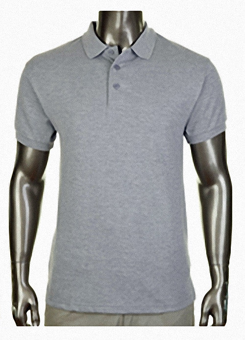 Pro Club Pique Polo Collar Gray Shirt