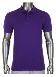 Pro Club Pique Polo Collar Purple Shirt