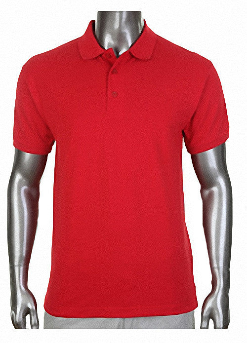 Pro Club Pique Polo Collar RED Shirt