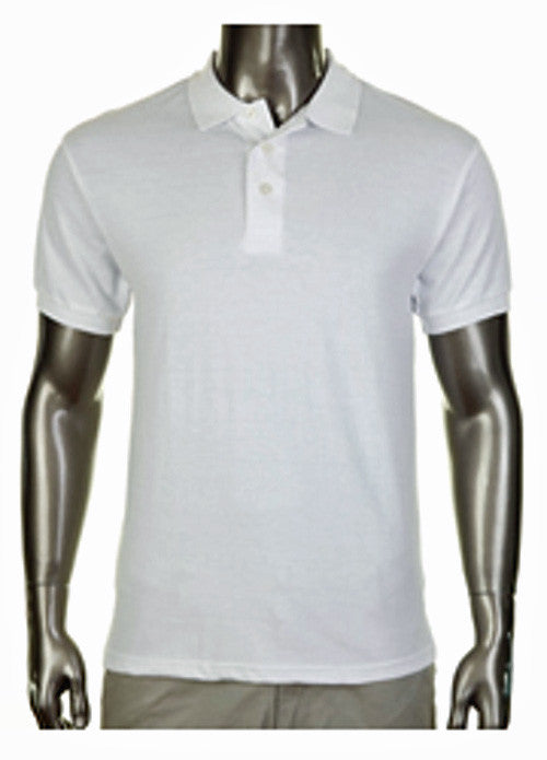Pro Club Pique Polo Collar White Shirt