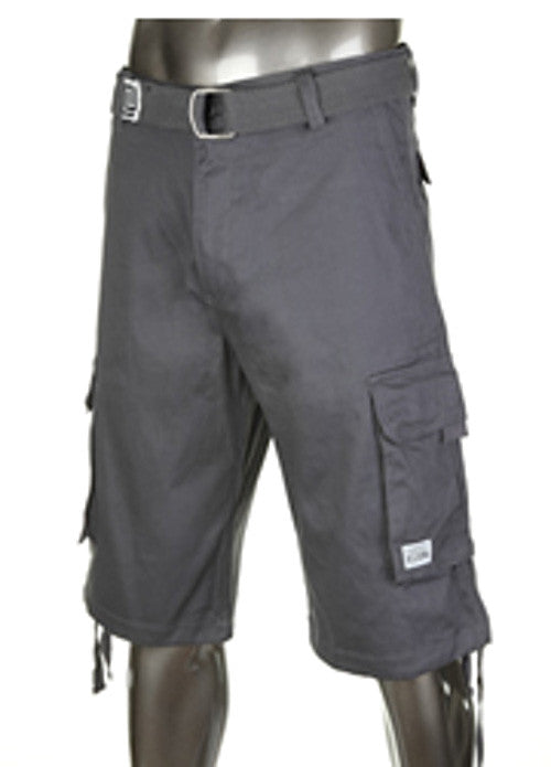 Pro Club Twill Cargo Shorts Charcoal Gray