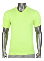 Pro Club Comfort Short Sleeve V-Neck T-Shirt Lime