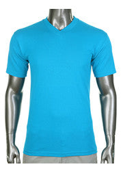 Pro Club Comfort Short Sleeve V-Neck Seafoam Green T-Shirt