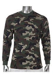 Pro Club Heavyweight L/S Thermal Green Camo