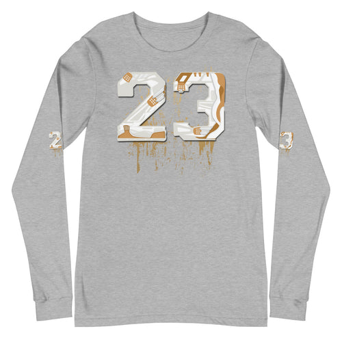 Womens Jordan 4 Pure Money Shoe 11 by 11 Long Sleeve Tee
