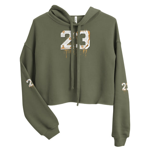 Womens Jordan 4 Pure Money Shoe 11 by 11 Crop Hoodie