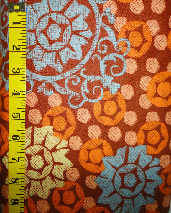 Chiffon Collection Medallion Orange PW5F025 for Westminster Fabrics