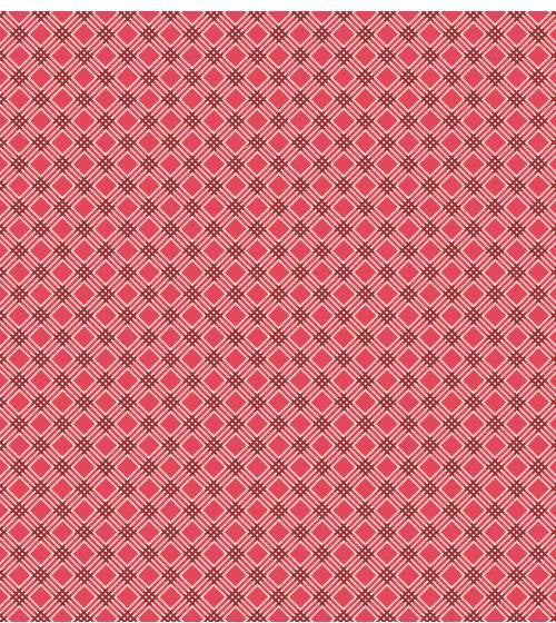 Penelope Diagonal Plaid LH11052 Red by Lakehouse Fabrics by Holly Holderman