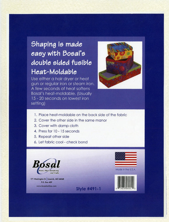 Heat Moldable Double-Sided Fusible PLUS by Bosal