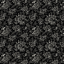 Penelope Flower Sprigs LH11036 Black by Holly Holderman for Lakehouse Fabrics