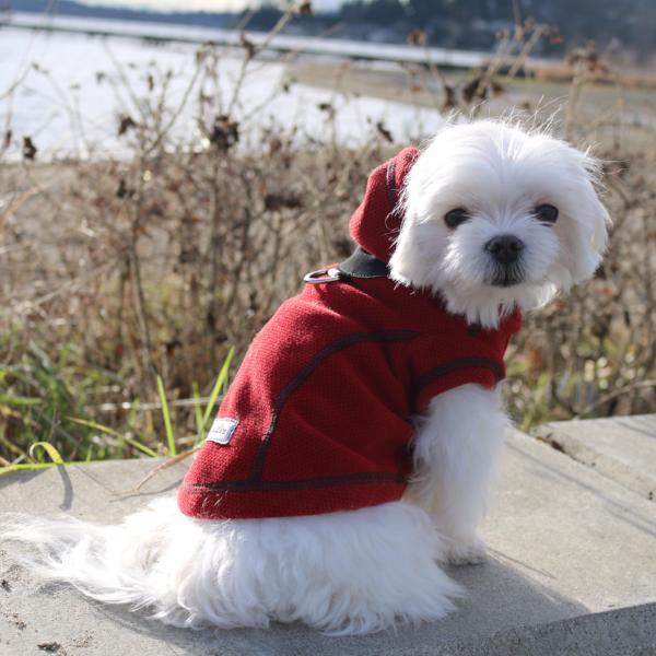 Honey Comb Calming Fleece Hoodie Jacket - Red