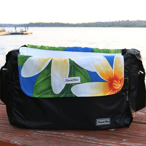 Cooling Bag Liner - Blue Plumeria