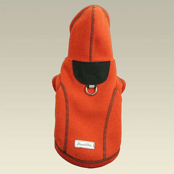 Honey Comb Thermal Fleece Jacket Orange full length