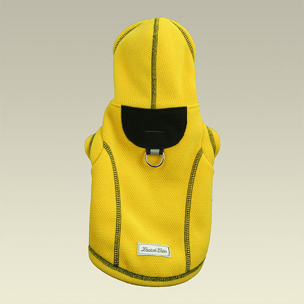 Honey Comb Thermal Fleece Jacket small dog yellow hood