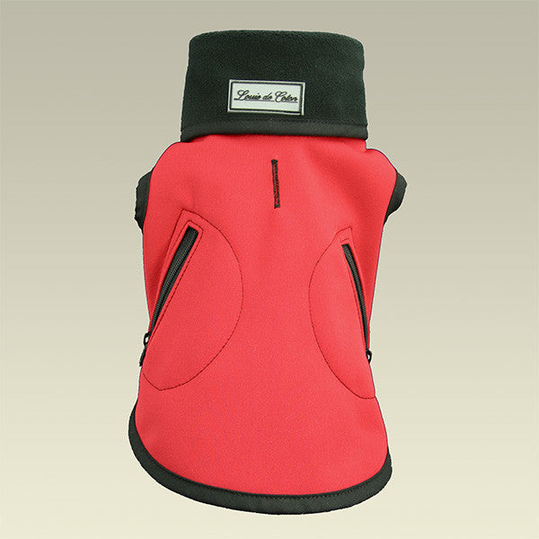 all weather technical small dog vest red