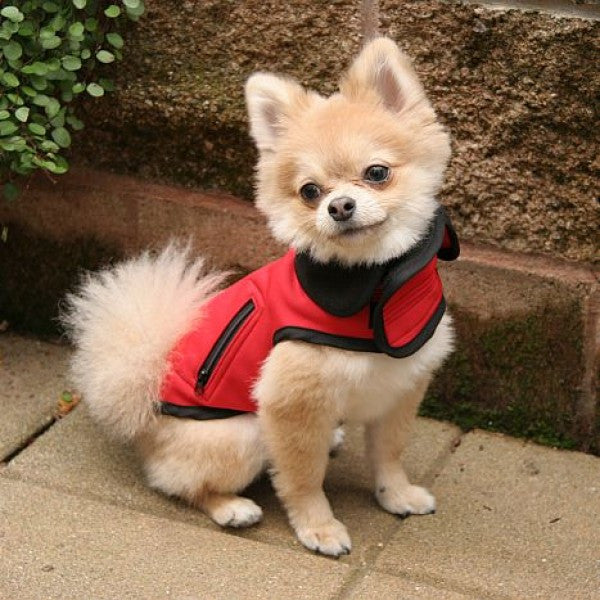 all weather technical small dog vest model