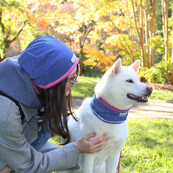Handmade Reflective IllumiNITE Fleece Neck Warmer For People or Dogs - Pink