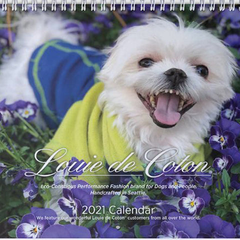 2021 Designer Wall Calendar with US and Canada Dates & Support Rescue Groups