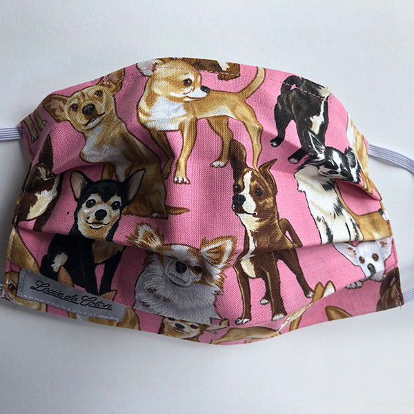 Handmade Cotton Face Mask - Chihuahua