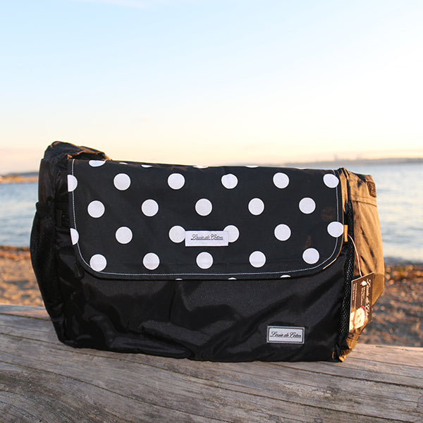 Cooling Bag Liner - Black Polka Dot