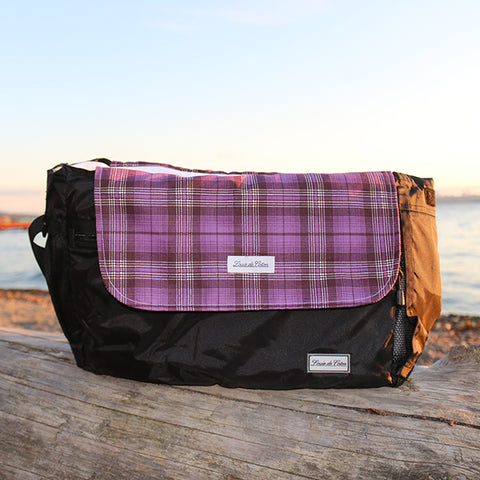 Cooling Bag Liner - Purple Plaid