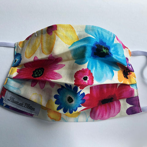 Handmade Cotton Face Protection - Flowers