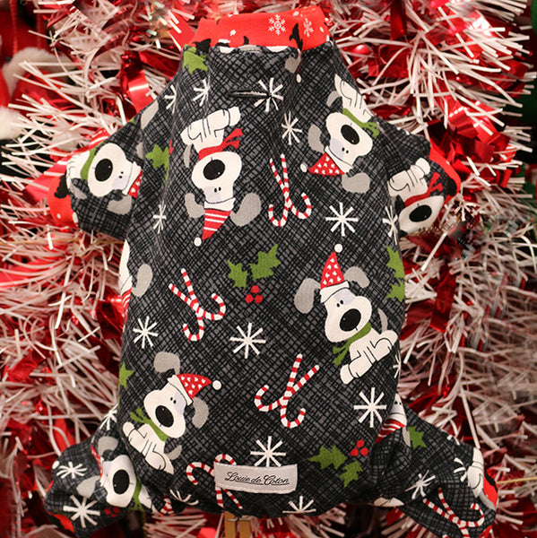 Handmade Holiday Cotton Pajamas - Charlie Pup