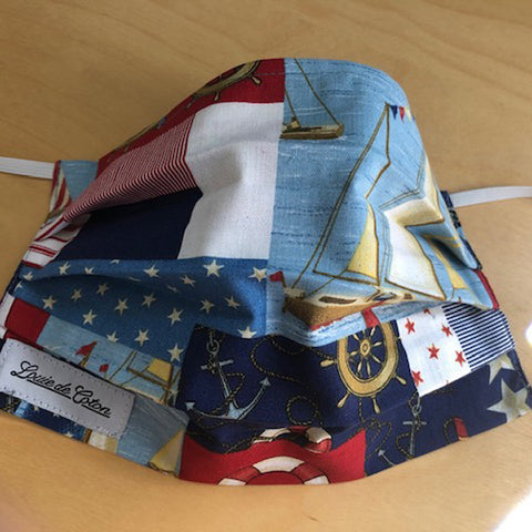 Handmade Cotton Face Protection - Nautical