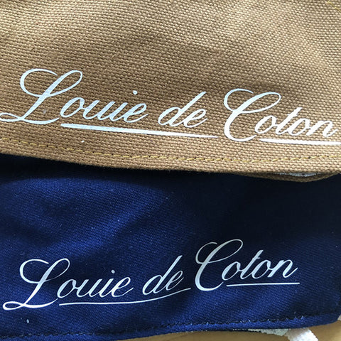 Antimicrobial Cotton Fitted Face Masks w/ Louie de Coton Printed Logo