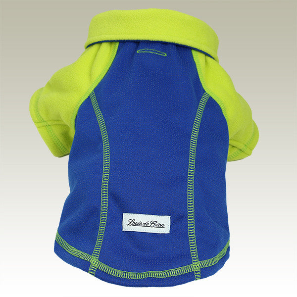 full length reflective outwear small dogs blue rear view