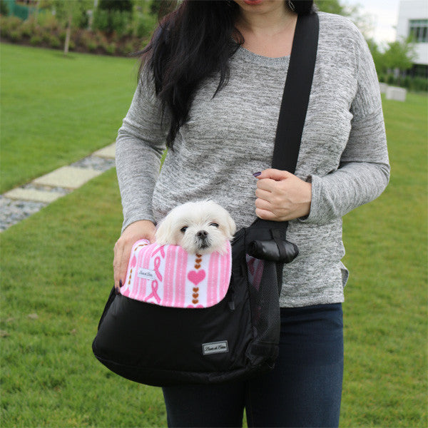 small dog carrier bag liner blanket hope for cure love ribbon model
