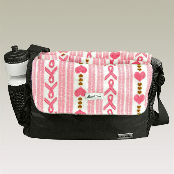 small dog carrier bag liner blanket hope for cure love ribbon