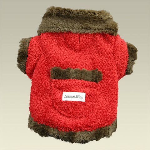 Furry Valentino Calming Fleece Jacket - Chocolate