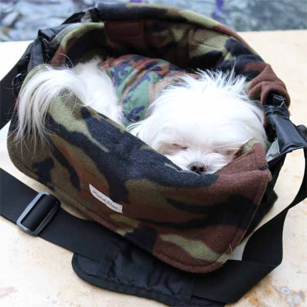 small dog carrier bag liner and blanket camouflage pet