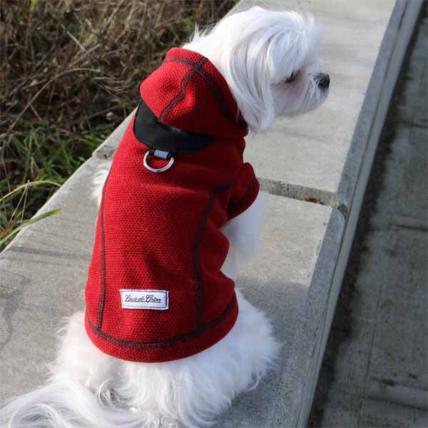 Honey Comb Thermal Fleece Jacket Red hood