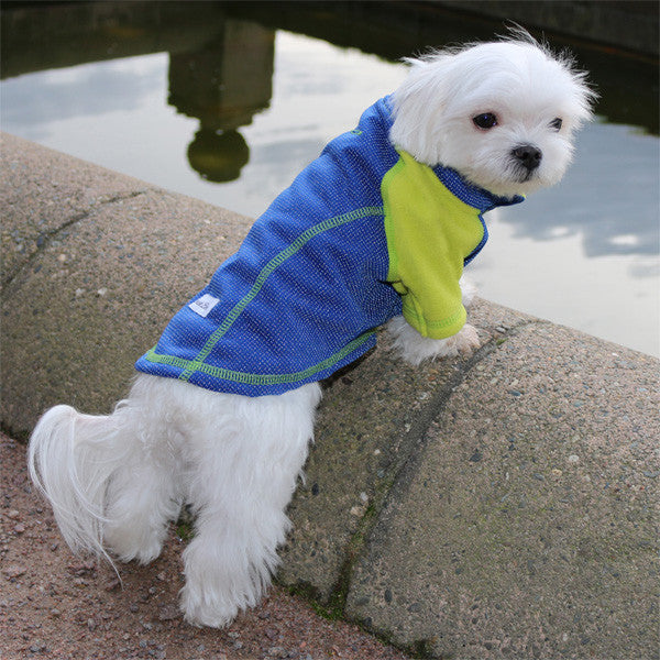 full length reflective outwear small dogs blue