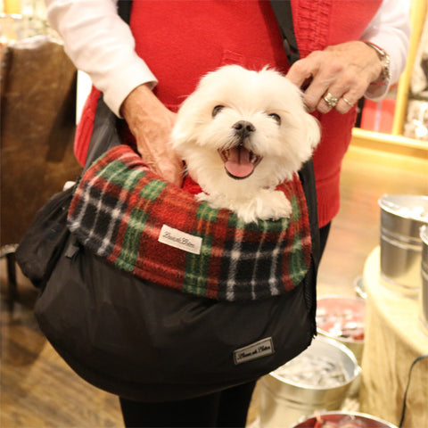 Classic Plaid small dog carrier liner blanket louie