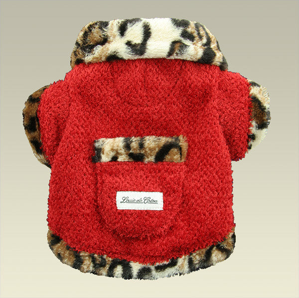 Furry Valentino Fleece Jacket - Light Leopard