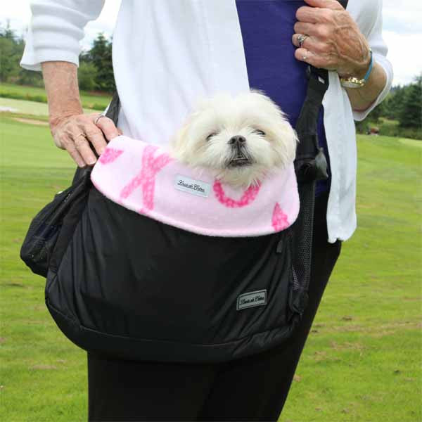 small dog carrier bag liner blanket hope for cure ribbon pet