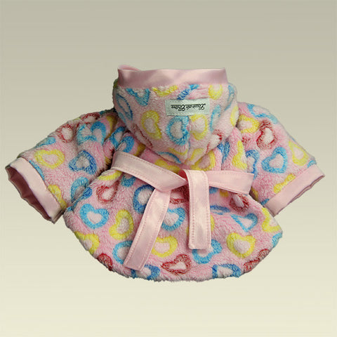Heart Candy Handmade Plush Fleece Robe