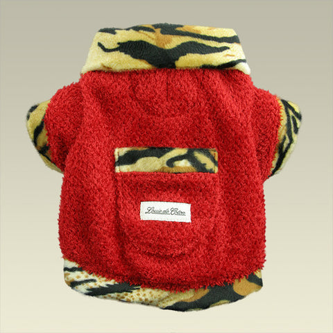 Furry Valentino Fleece Jacket - Tiger